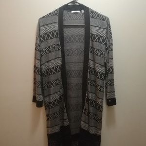 Dex Open Front Fringe Kimono Cardigan